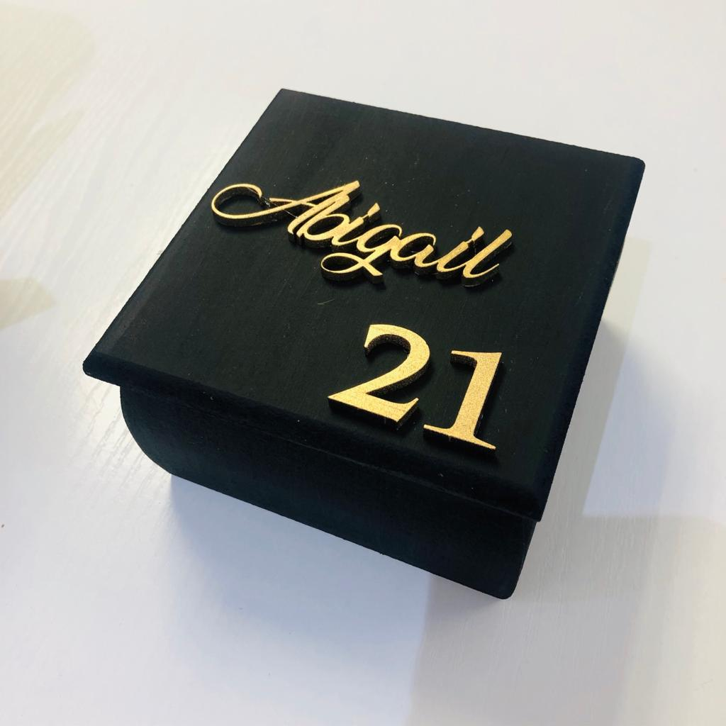 21st Personalised Jewellery Box