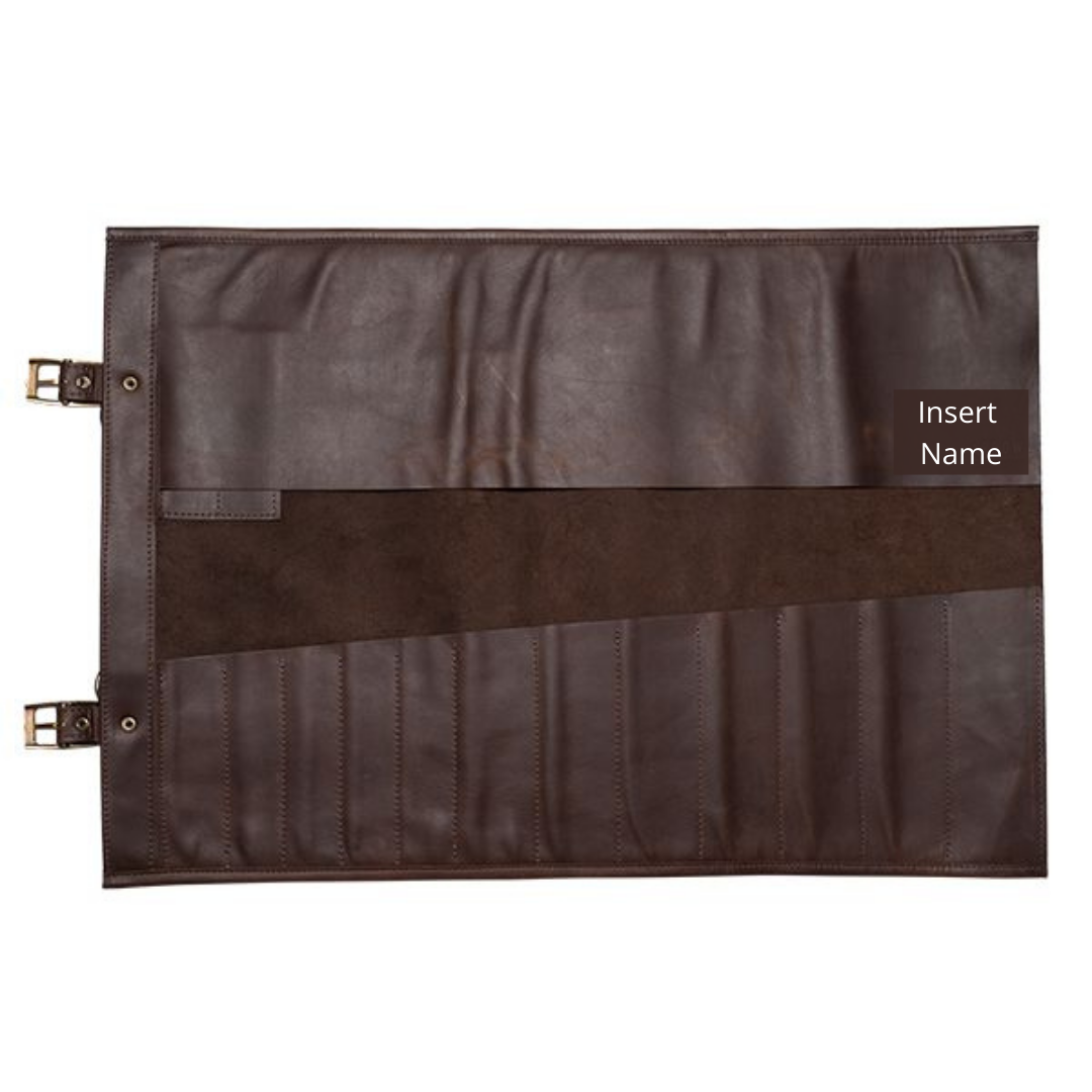 XL Leather Knife Roll Bag